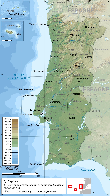 mapa topográfico portugal Portugal mapa topográfico   mapa Topográfico de Portugal (Europa  mapa topográfico portugal