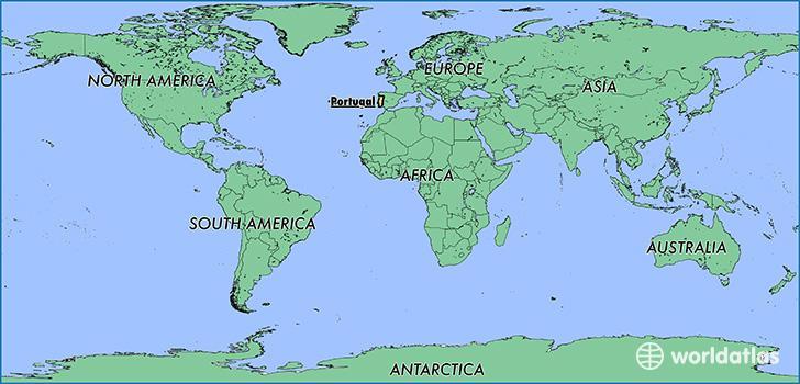 mapa mundo de portugal Portugal mapa do mundo   mapa de Portugal (Europa do Sul   Europa) mapa mundo de portugal