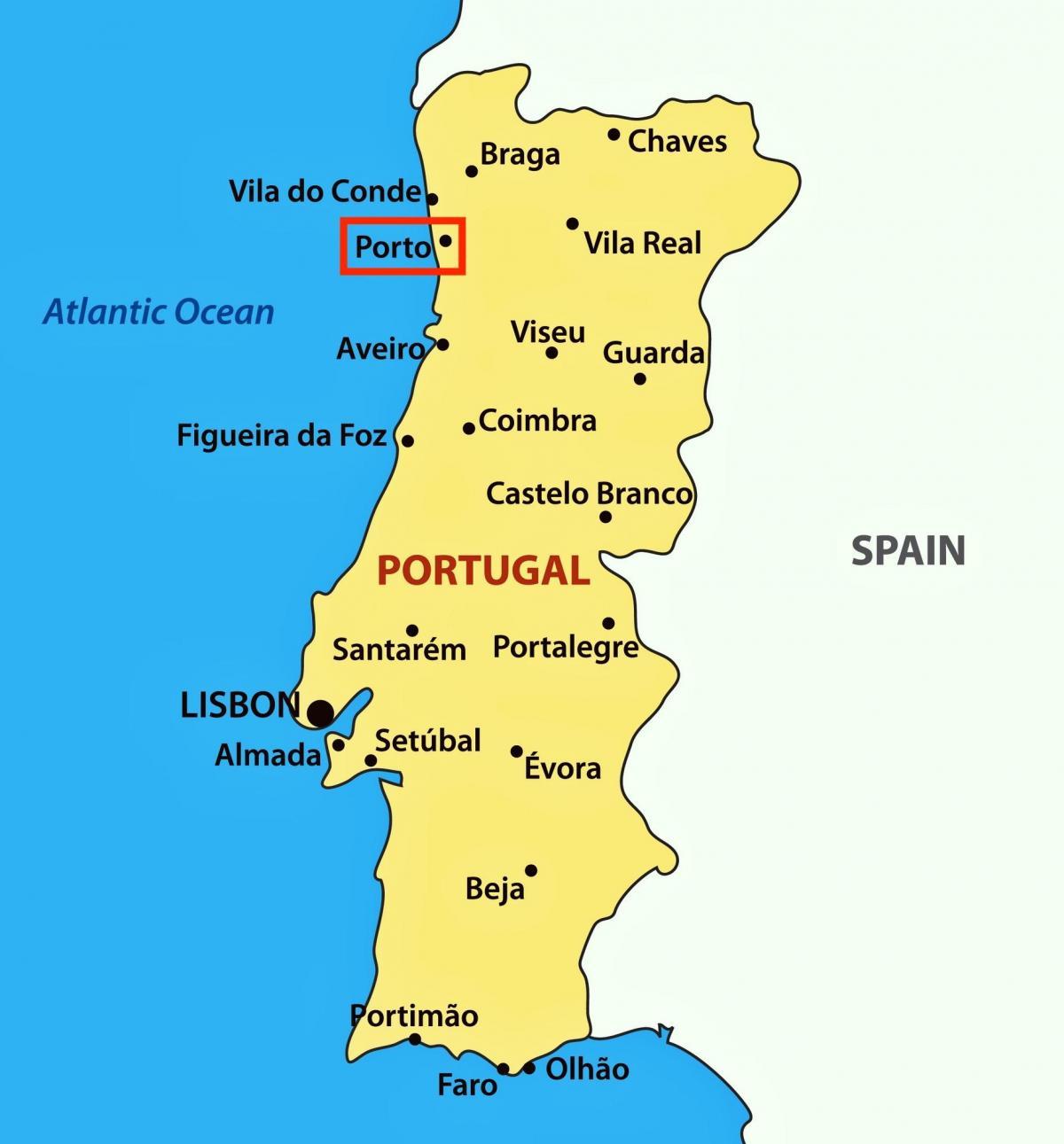mapa portugal porto Mapa Do Porto Portugal | thujamassages mapa portugal porto