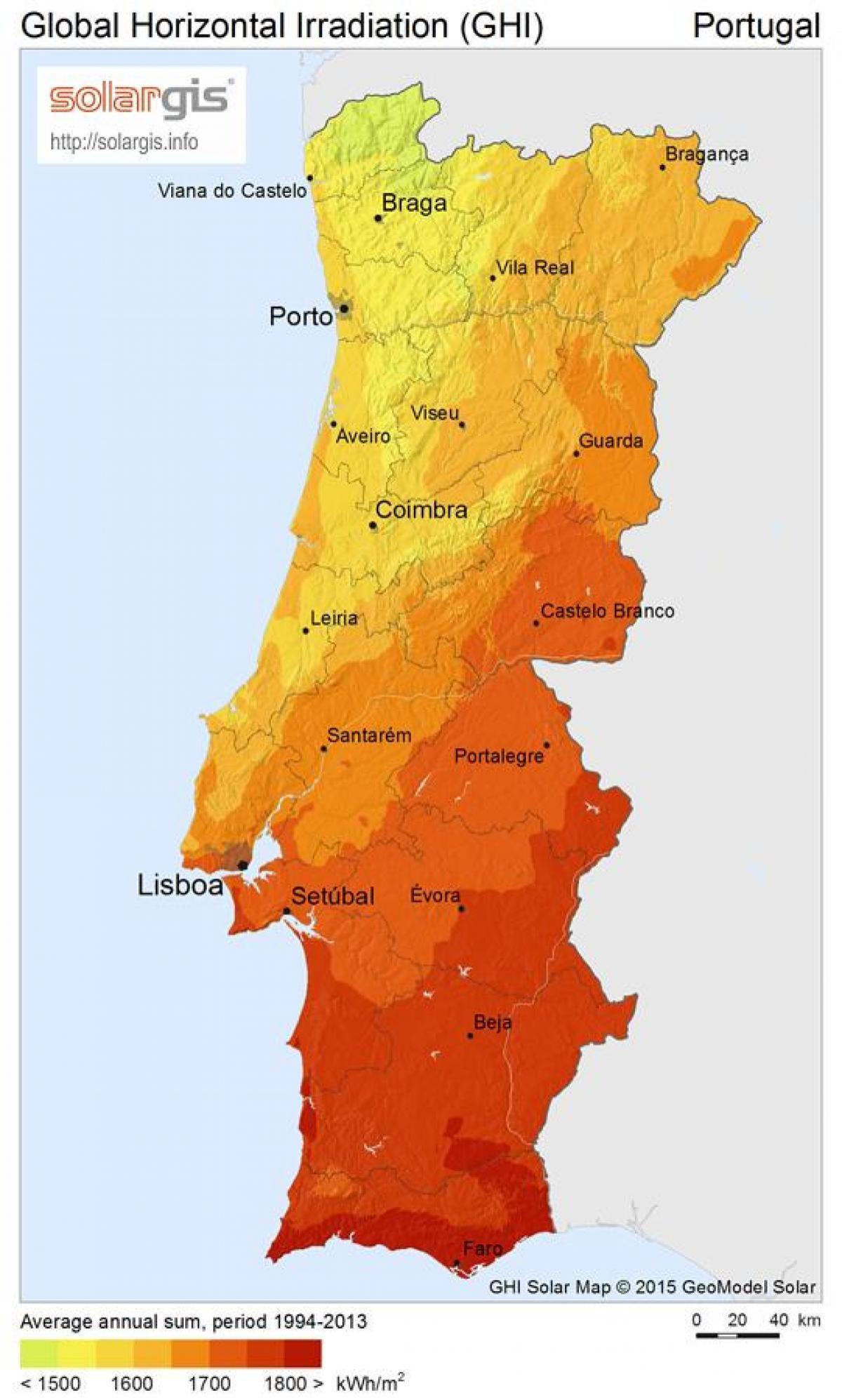 mapa climatico de portugal Portugal mapa do tempo   Clima mapa de Portugal (Europa do Sul  mapa climatico de portugal